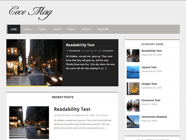 screenshot 10 Best Free WordPress Themes for 2013 March