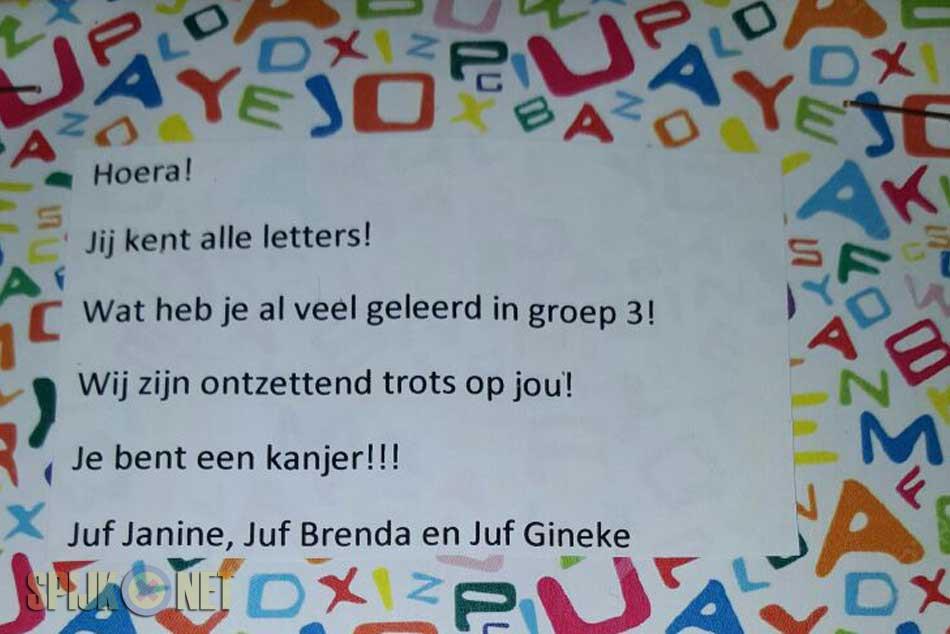 Letterfeest groep 3 OBS Fiepko Coolman