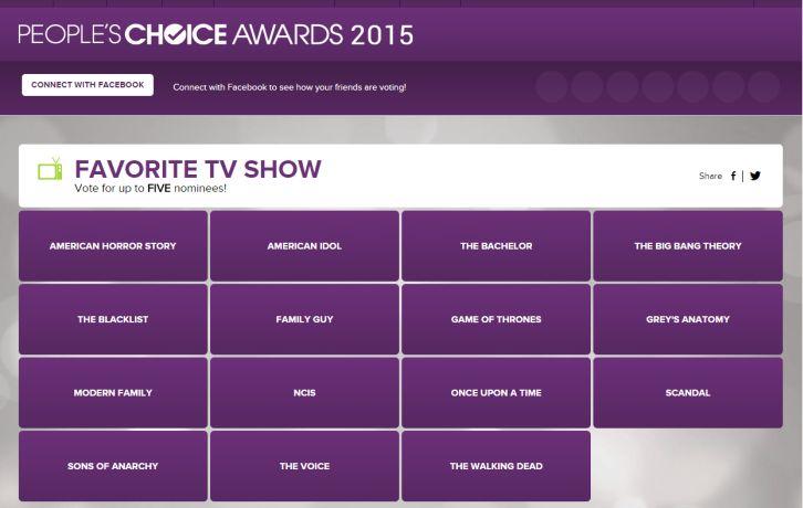 2014 10 21 18 04 57 Escolha dos indicados ao Peoples Choice Awards 2015 já começou (e você pode votar)