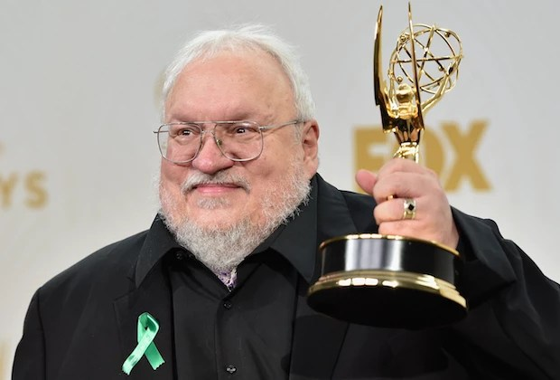 LOS ANGELES, CA - SEPTEMBER 20:  Writer George R. R. Martin, winner of Outstanding Drama Series for 'Game of Thrones', poses in the press room at the 67th Annual Primetime Emmy Awards at Microsoft Theater on September 20, 2015 in Los Angeles, California.  (Photo by Alberto E. Rodriguez/Getty Images)