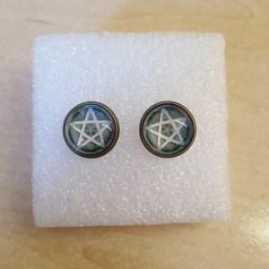 Pentacle Stud Earrings