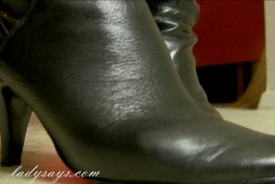 leather mistress boot worship