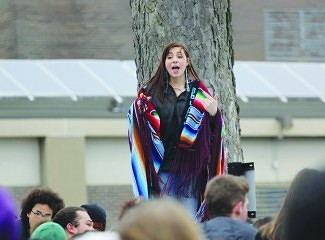 South High Senior Winona Vizenor, an All Nations student who organized the event. Photos by Emmet Kowler