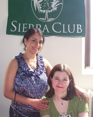 Karen Monahan (l) and volunteer Stephanie Spencer