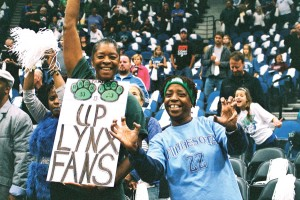 Lynx fans at Sunday's Game One  of the Finals Photo by Sophia Hantzes