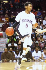 St. Paul Johnson's Quashingm Smith-Pugh led the Governors to a first-round win in the Class 3A state tournament in March.
