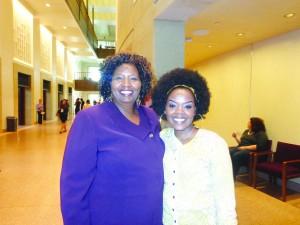 (l-r) Dr. Mumbi Mwagi and daughter Njeri Clement