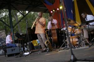 Branford Marsalis quartet at the 2014 Twin Cities Jazz Festival