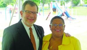 (l-r) Eric Kaler and Bernadeia Johnson