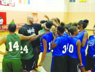 Run & Shoot Girls' Basketball League  in the Farview gym