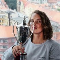 16.7.2019 Praha sport tenis Wimbledon Barbora Strycova po vyhre ve Wimbledonu PHOTO BY CPA