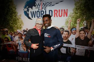 Participants at the Wings for Life World Run event in Munich 23rd of January 2016