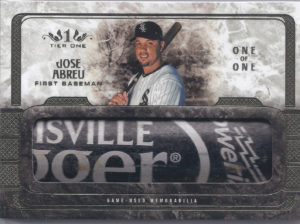 2016 Topps Tier One Limited Lumber Jose Abreu Card