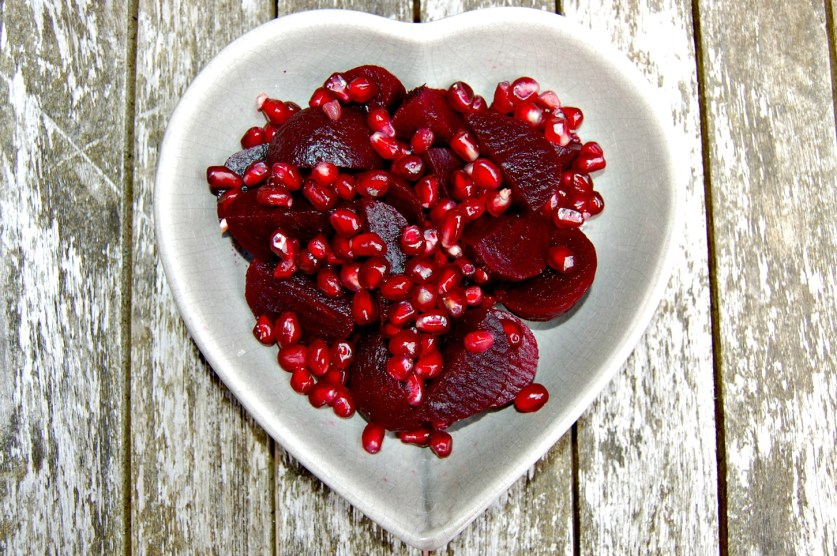 Beetroot and pomegranate