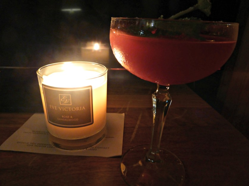 Cocktails and candles ...