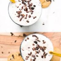 Healthy Cookie Dough Milkshake (Vegan, Paleo, Gluten Free, Refined Sugar Free)