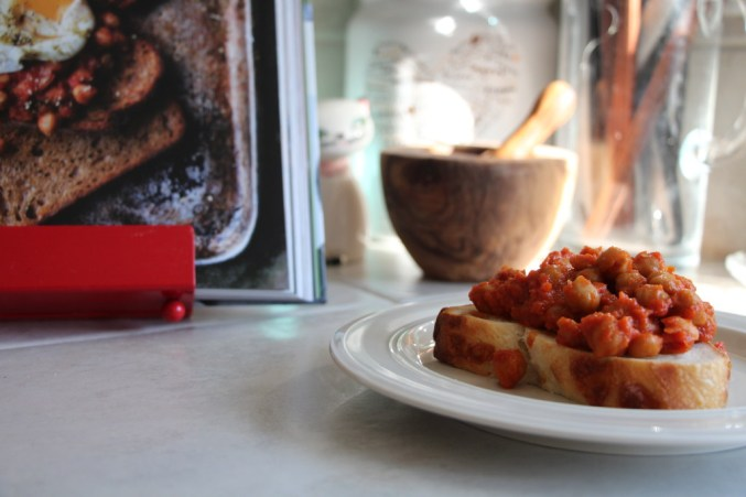 Slow-Cooked Chickpeas on Toast