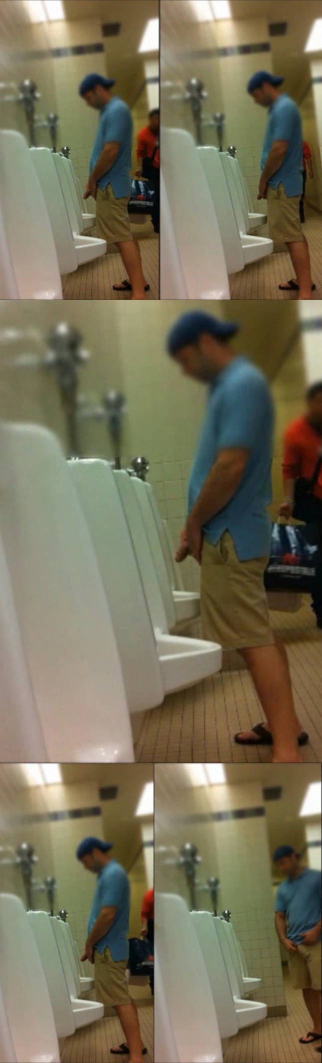 big dick at urinal