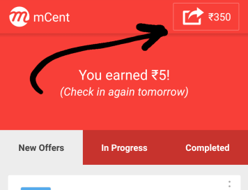 mcent app 350 rs per refer