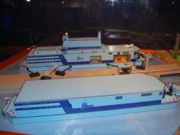 Atomkraftwerk AKW Akademik Lomonossow Floating_Nuclear_Power_Plant_model