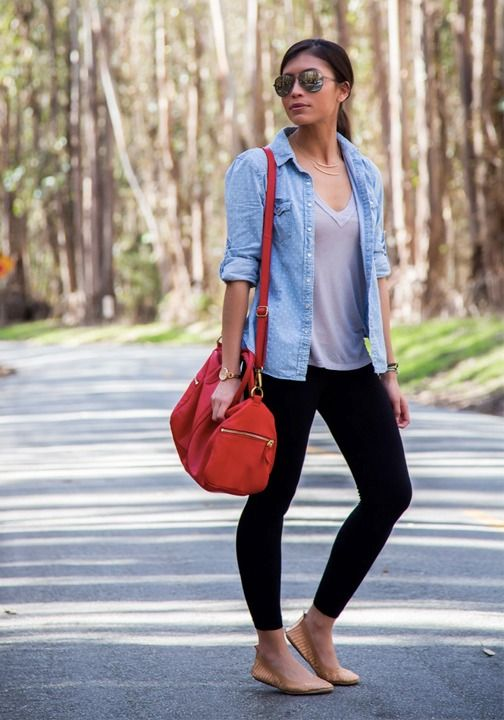 Wear a comfortable outfit when traveling