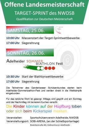 Plakat für Target-Sprint-Sommerbiathlon 2016