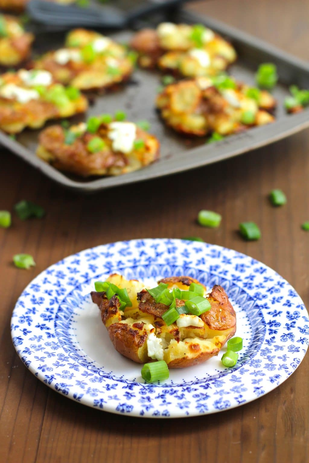 love these smashed potatoes with goat cheese! What cheese would you ...