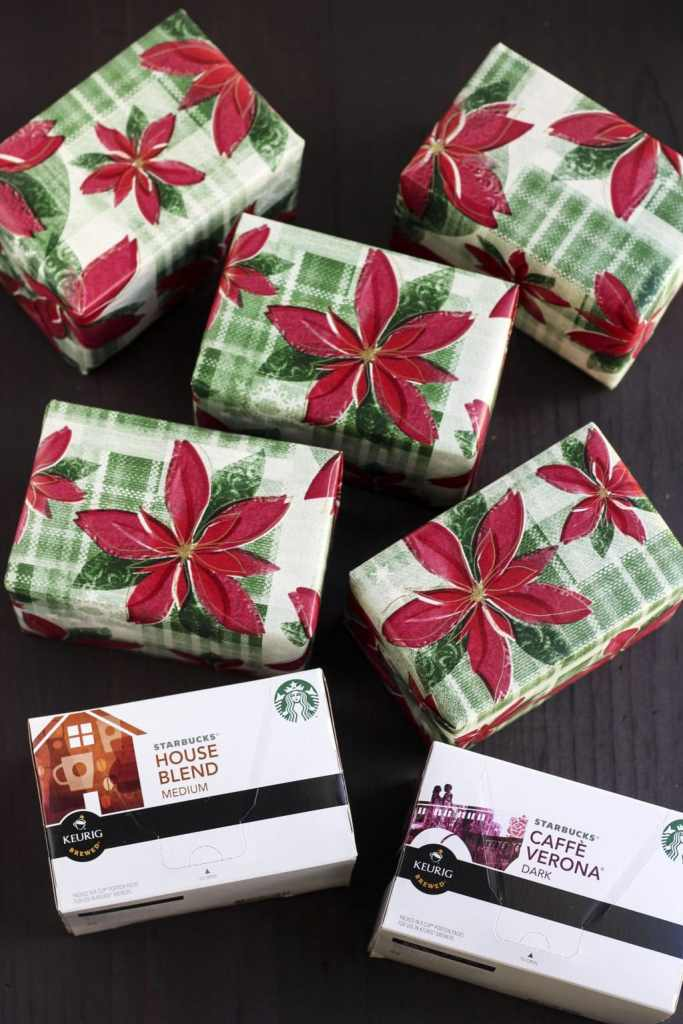Starbucks k cup christmas tree gift