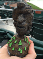 Old Man of The Mountain Bobblehead - New Hampshire Fischer Cats - Toronto Blue Jays