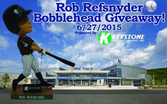 Scranton Wils Railriders Rob Refsnyder Bobblehead - Yankees