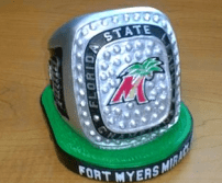 fort myers replica ring - twins
