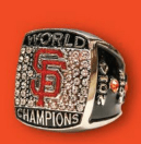 river cats sf giants replica ring - san francisco giants