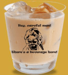 big lebowski white russian rock glass - inland empire 66ers - los angeles angels