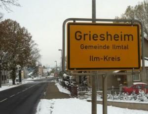 Ortsschild von Ilmtal-Griesheim