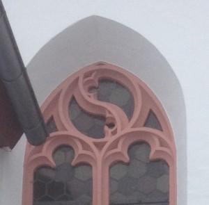 Ein spätgotisches Maßwerkfenster an der Nordseite der Lutherkirche