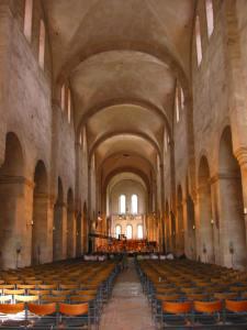 In der romanischen Kirche des Klosters Eberbach