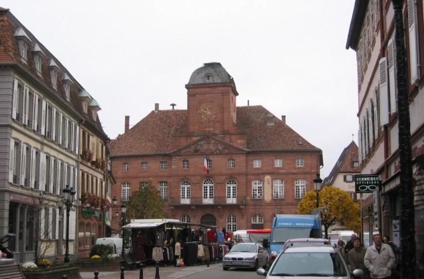 Das Rathaus in Wissembourg.