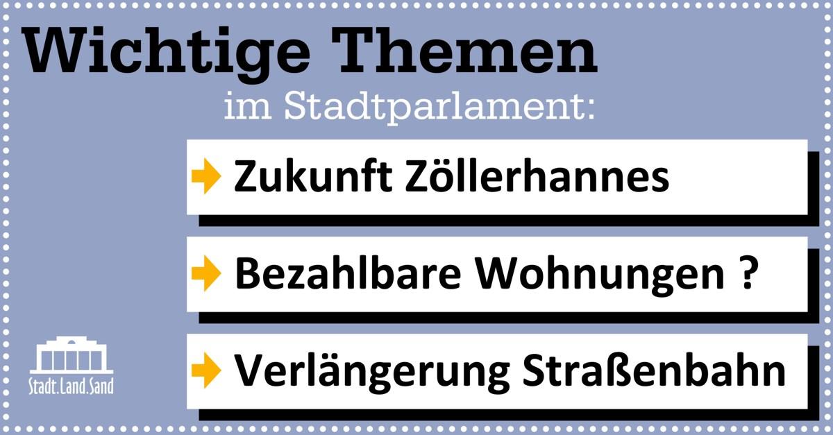 Wichtige Themen im Stadtparlament am 30.5.2018