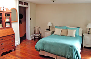 Casual master bedroom staged for the right audience