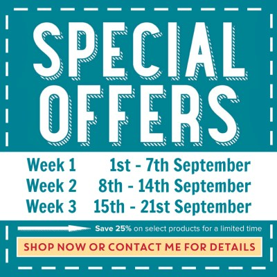 Special Offers Week 3, available while supplies last!