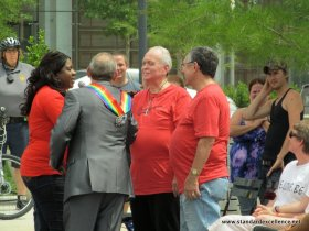 Pastor Neill Spurgeon Expressions Church with same-sex couples