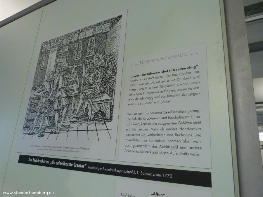 Zetters en drukkers in het Museum der Arbeit - Standort Hamburg