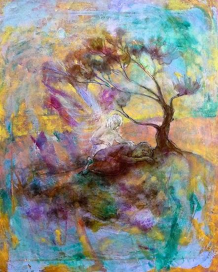 'Elijah under the broom tree' by Annamora of Wollongong, Australia