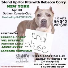 In 10 days NEW YORK CITY Stands Up For Pits!!