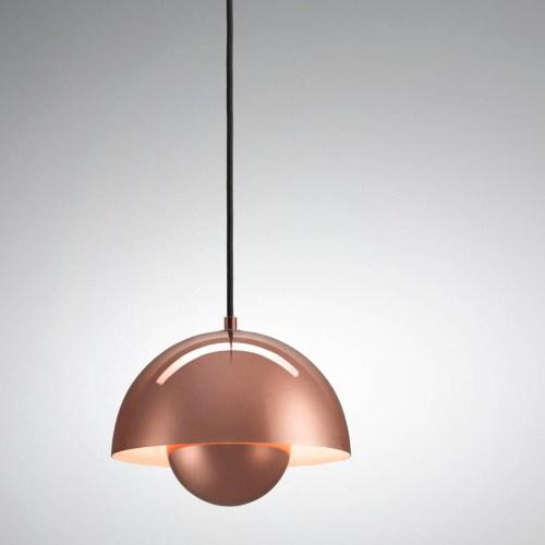 panton flowerpot lamp copper pendant light kitchen Verner Panton Flowerpot Lamp VP1 Pendant Light Copper