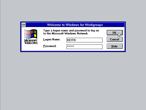 Log On to Windows 3.11