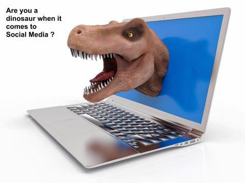 dinosaur social media
