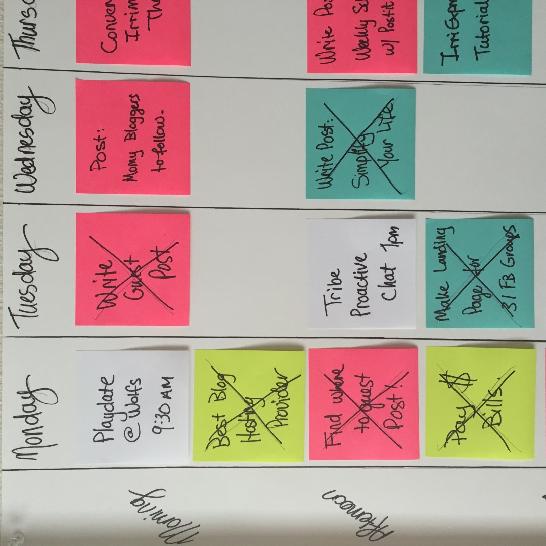 Super Simple Weekly Schedule to Get Stuff Done Post-it Notes Organize and Schedule my Life with Post it notes - Super Simple Hack! 7