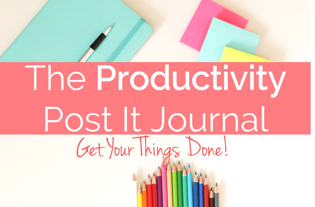 The Productivity Post It Journal