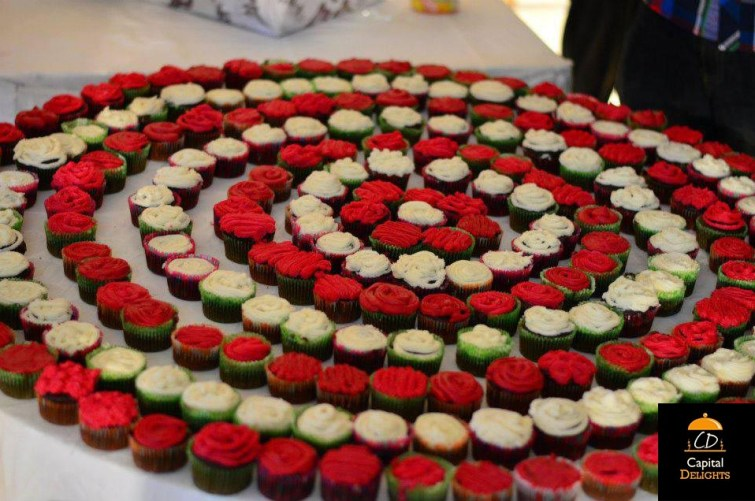 Cupcakes by Capital Delights ready to be delivered to TEDx event Islamabad (2013). Image credits: Capital Delights